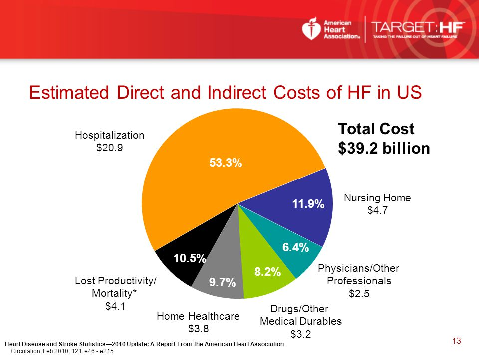 Estimated Direct and Indirect Costs of HF in US