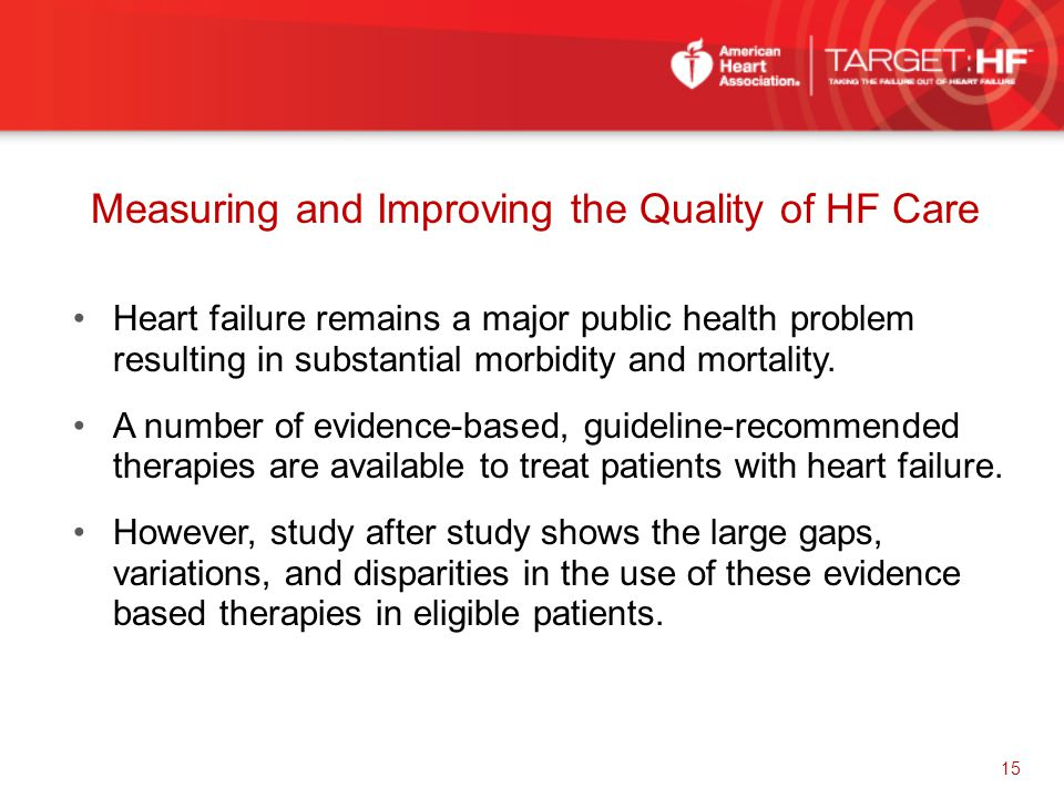 Measuring and Improving the Quality of HF Care