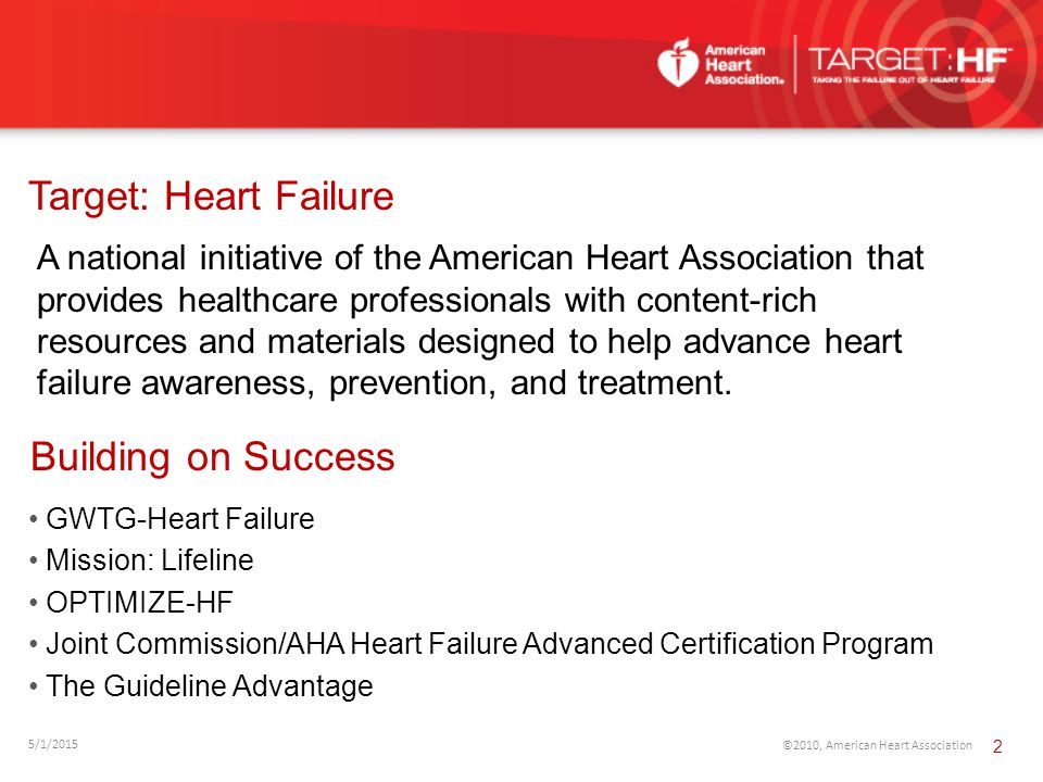 Target: Heart Failure Building on Success