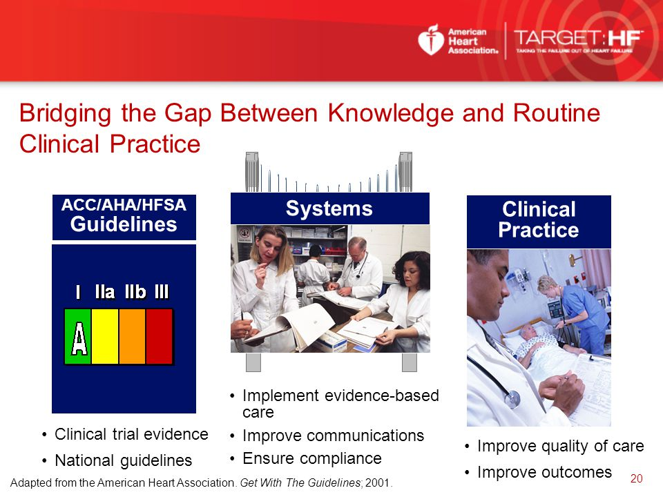 Bridging the Gap Between Knowledge and Routine Clinical Practice