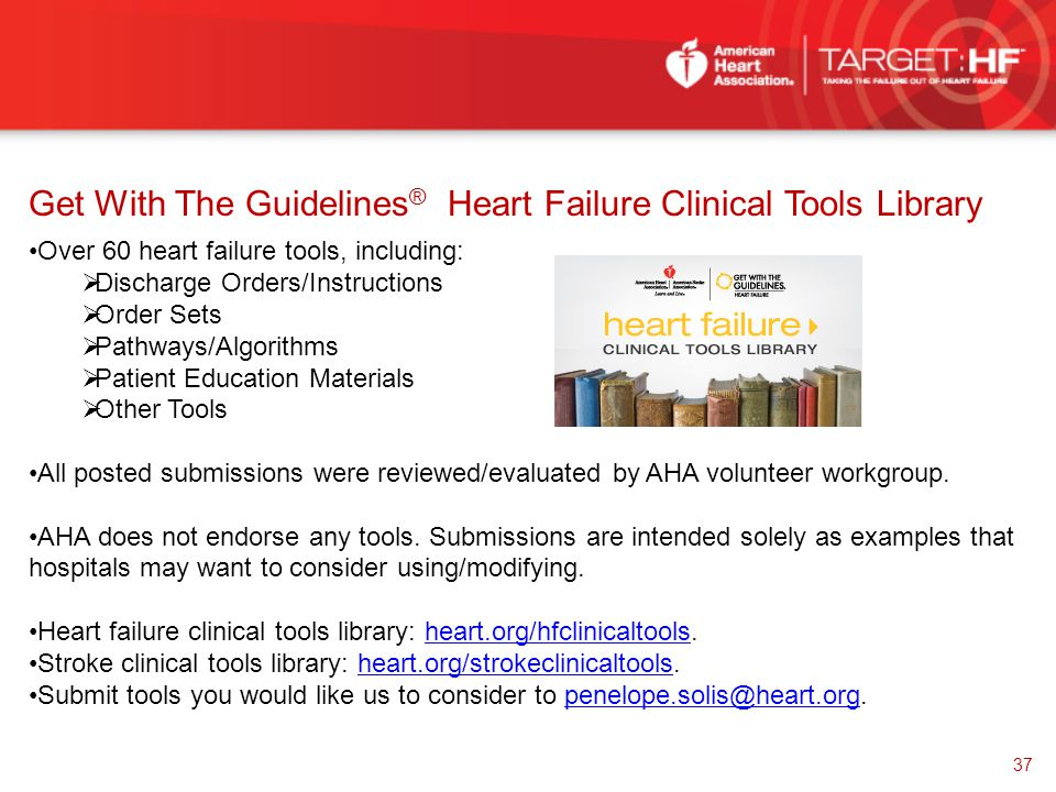 Get With The Guidelines® Heart Failure Clinical Tools Library