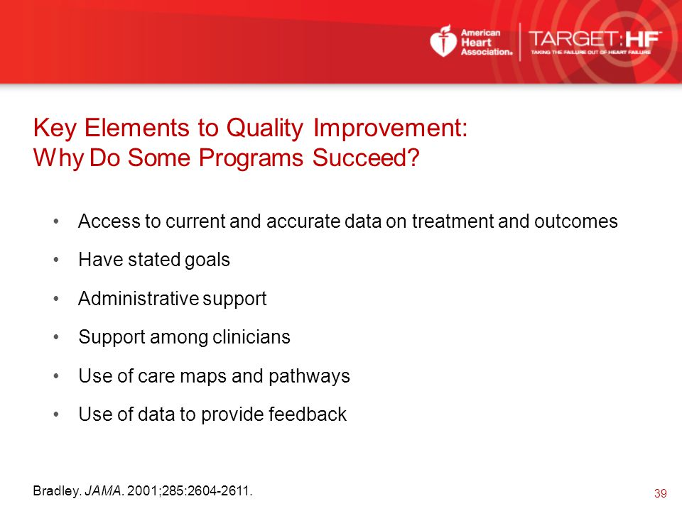 Key Elements to Quality Improvement: Why Do Some Programs Succeed