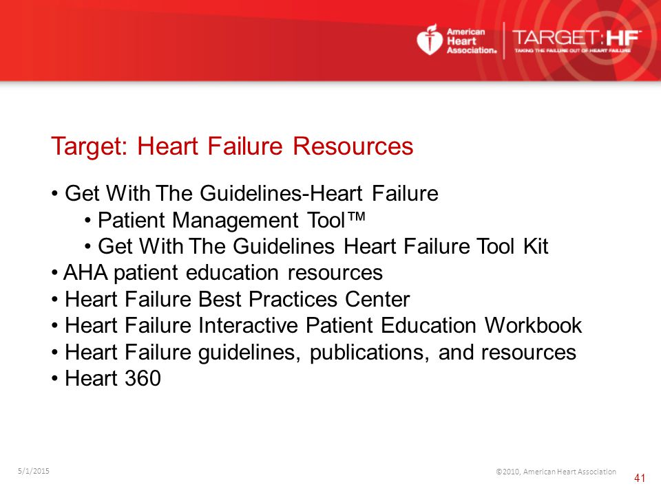 Target: Heart Failure Resources