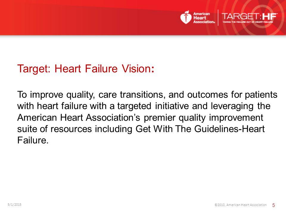 Target: Heart Failure Vision: