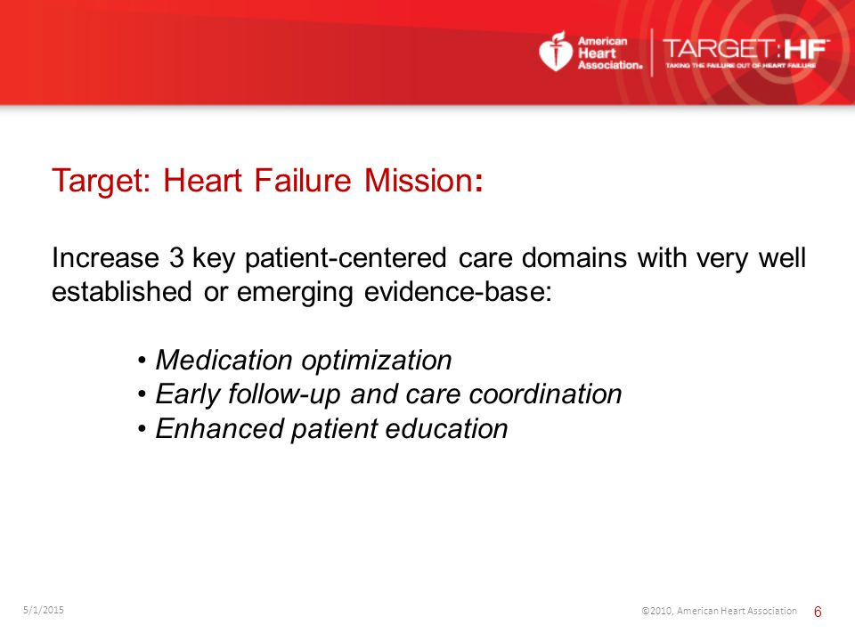 Target: Heart Failure Mission: