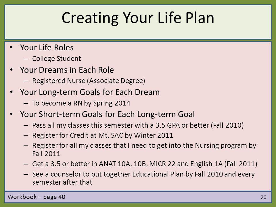 Creating Your Life Plan