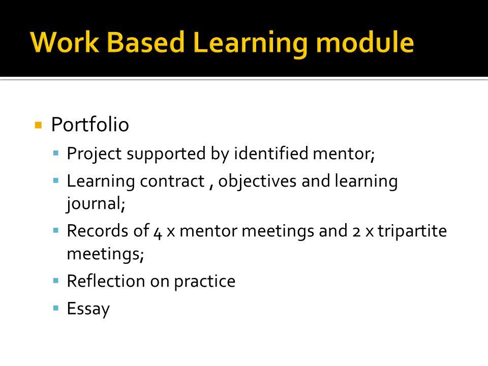 Work Based Learning module