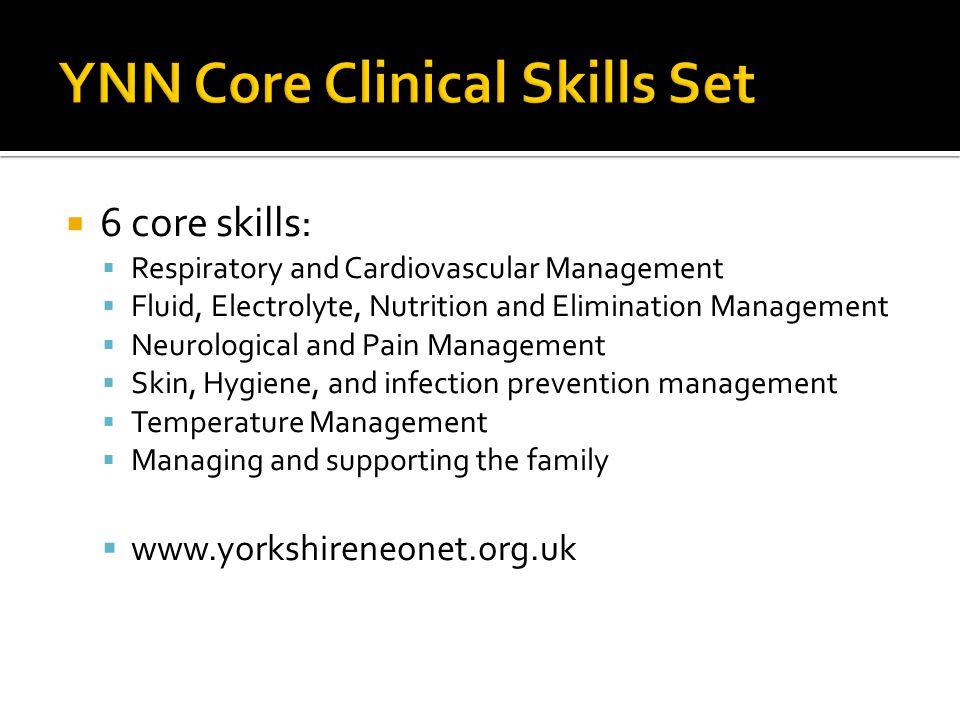 YNN Core Clinical Skills Set