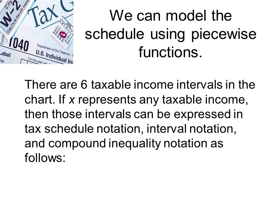 We can model the schedule using piecewise functions.
