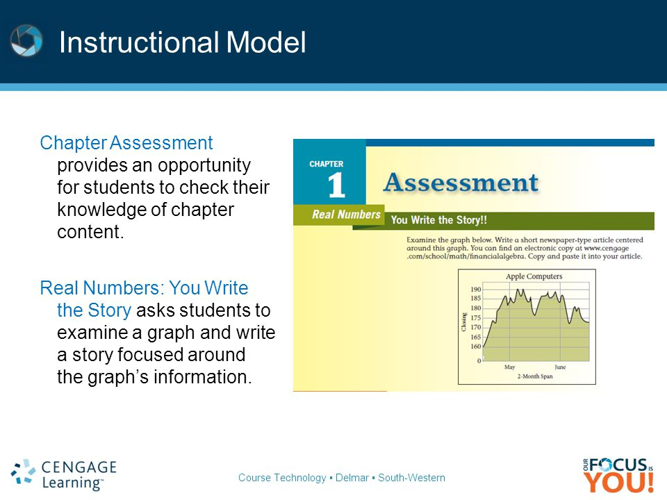 Instructional Model Chapter Assessment provides an opportunity for students to check their knowledge of chapter content.