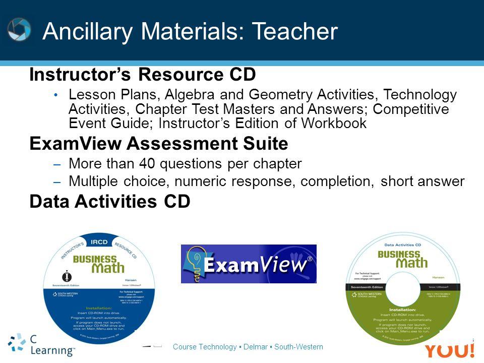 Ancillary Materials: Teacher