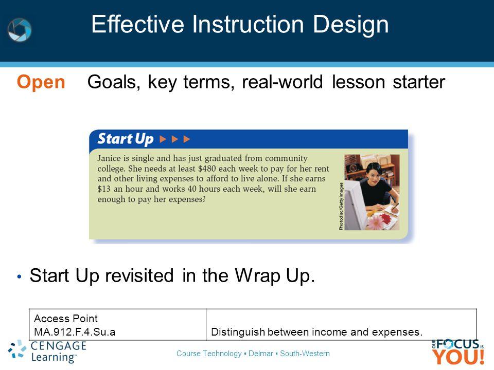Effective Instruction Design