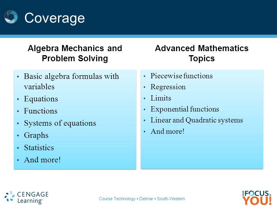Algebra Mechanics and Problem Solving Advanced Mathematics Topics
