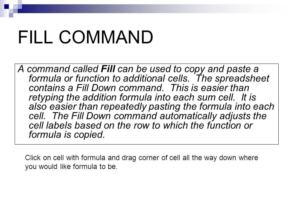 FILL COMMAND