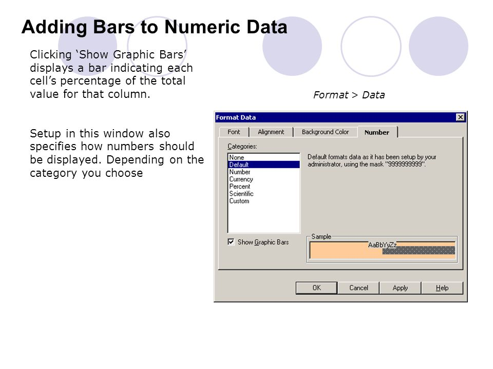Adding Bars to Numeric Data