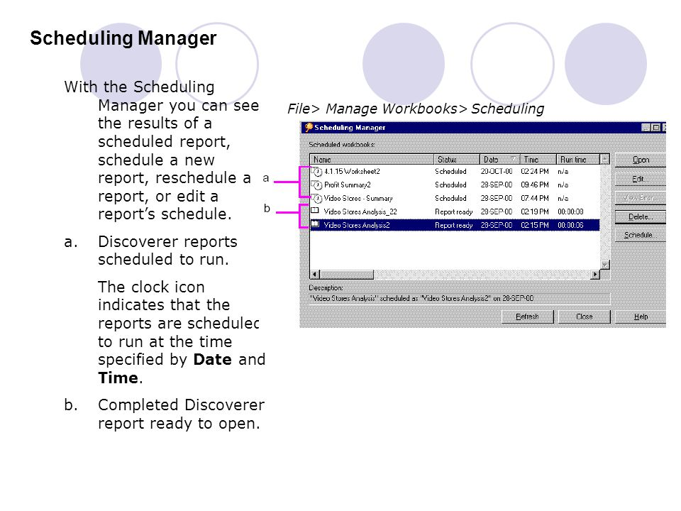 Scheduling Manager