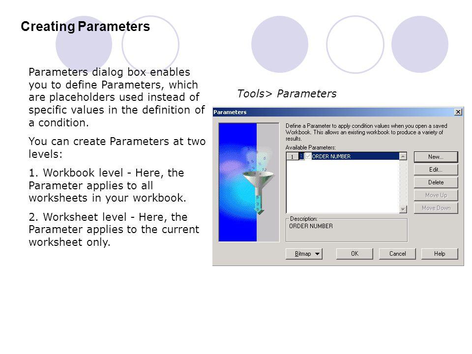 Creating Parameters