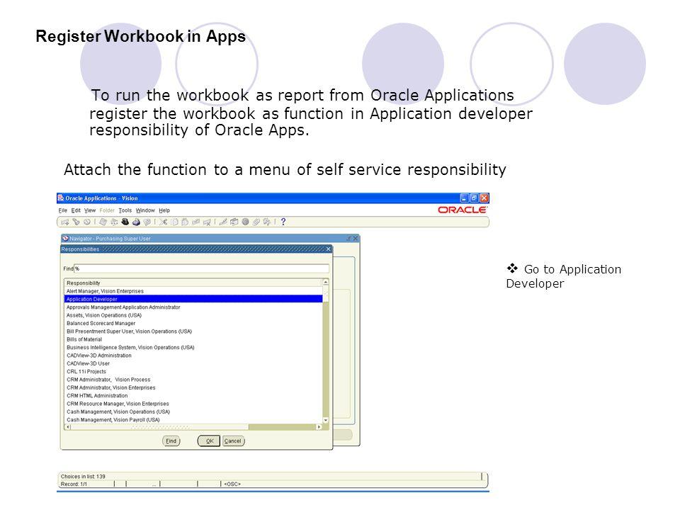 Register Workbook in Apps