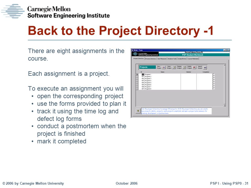 Back to the Project Directory -1