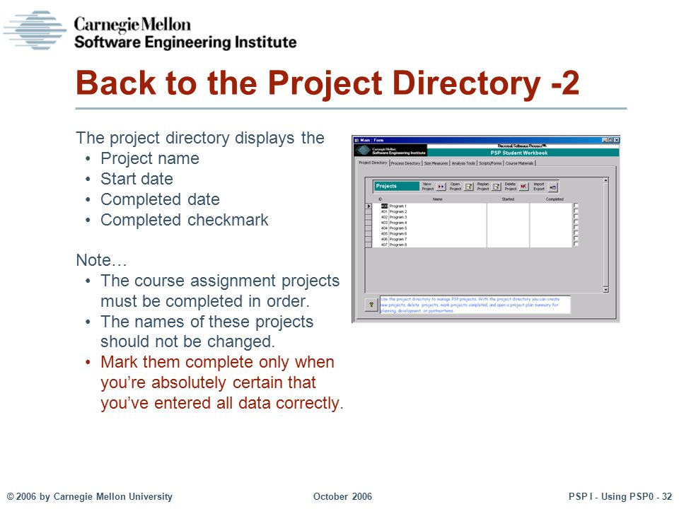 Back to the Project Directory -2