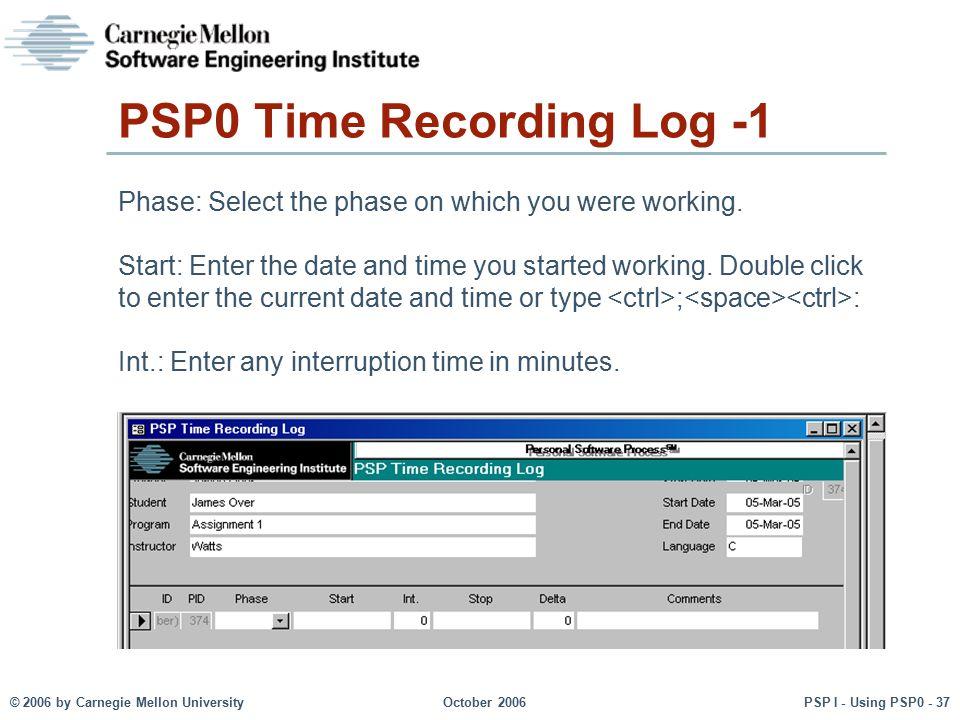 PSP0 Time Recording Log -1