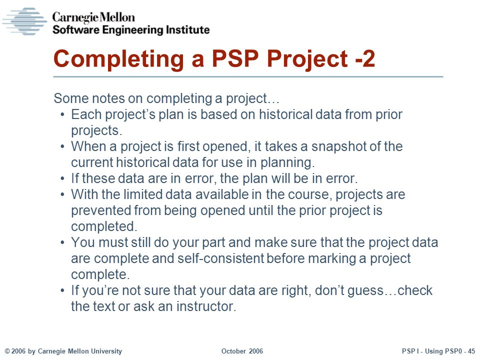 Completing a PSP Project -2