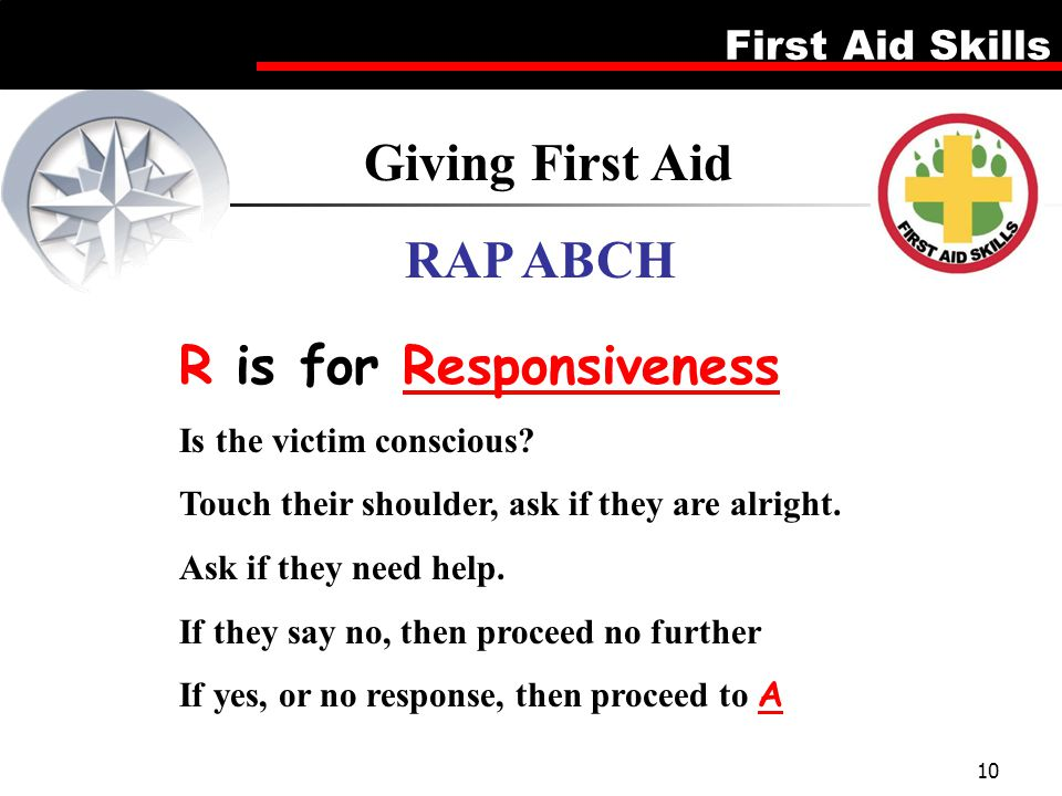 Giving First Aid RAP ABCH