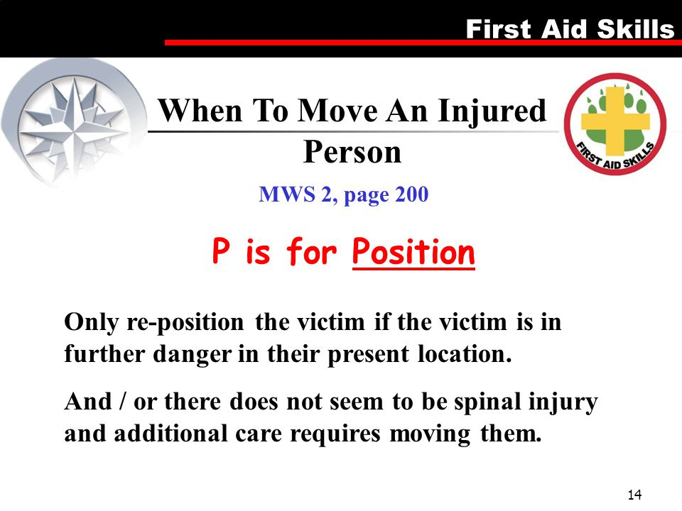 When To Move An Injured Person