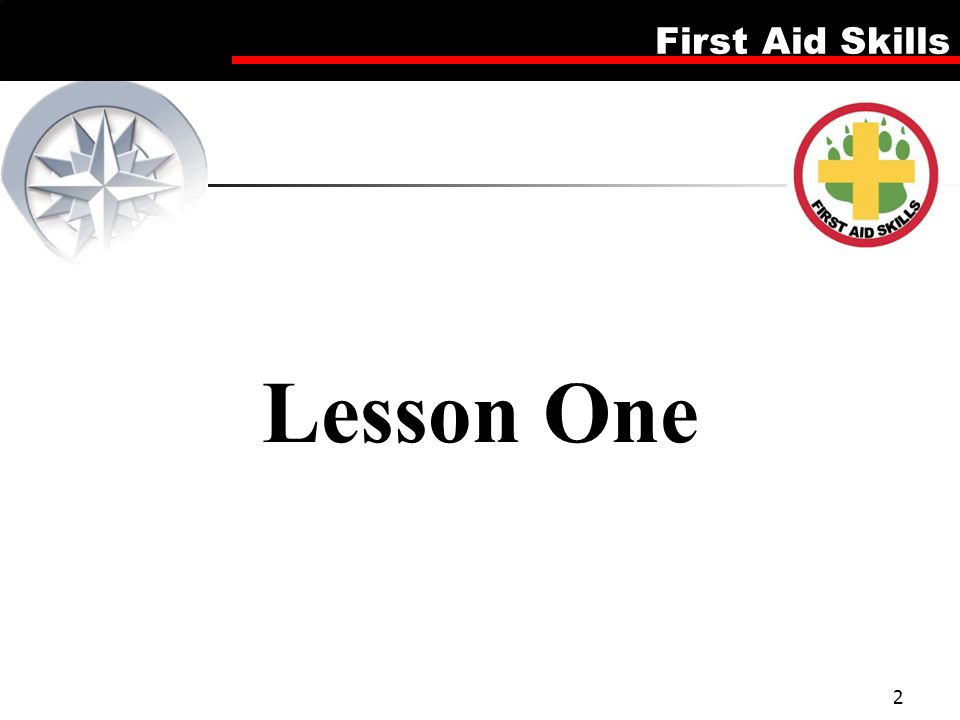 Lesson One Firsd Aid Skills