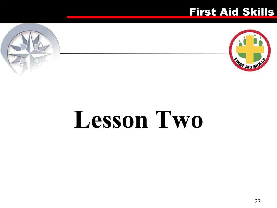Lesson Two Firsd Aid Skills