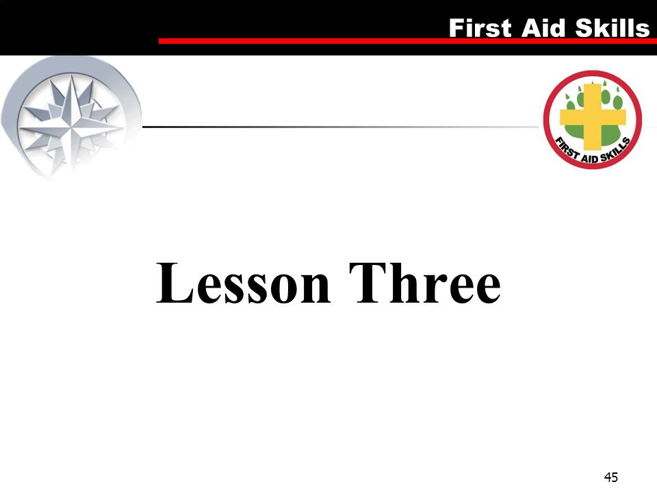 Lesson Three Firsd Aid Skills