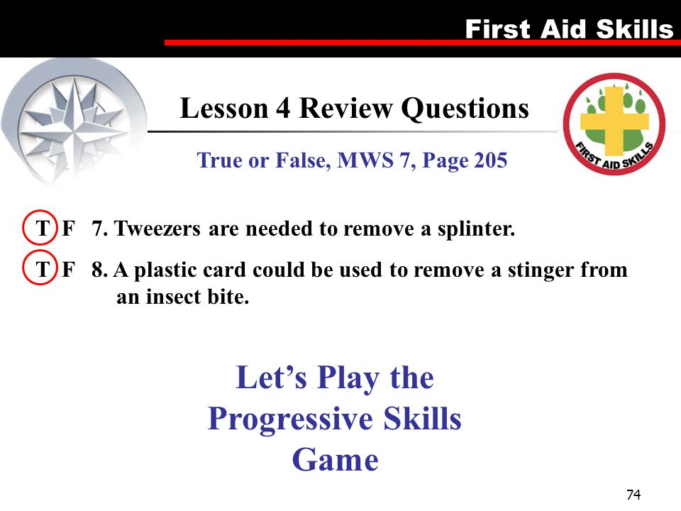 Lesson 4 Review Questions Let's Play the Progressive Skills Game