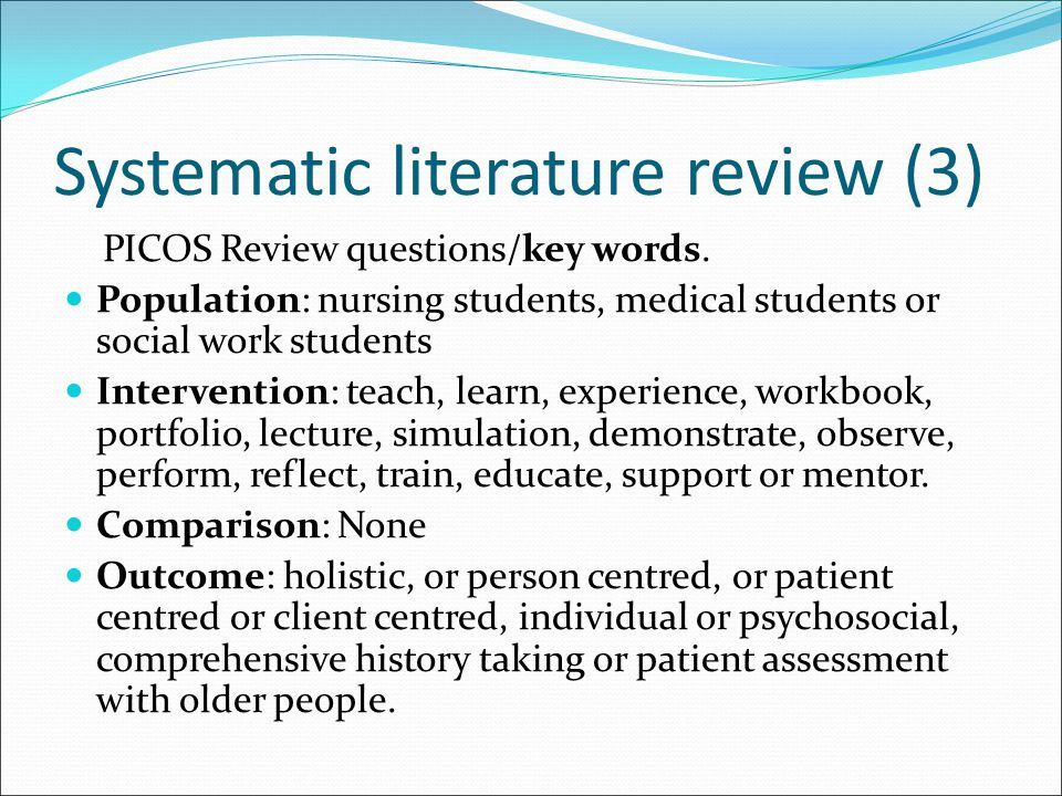Systematic literature review (3)