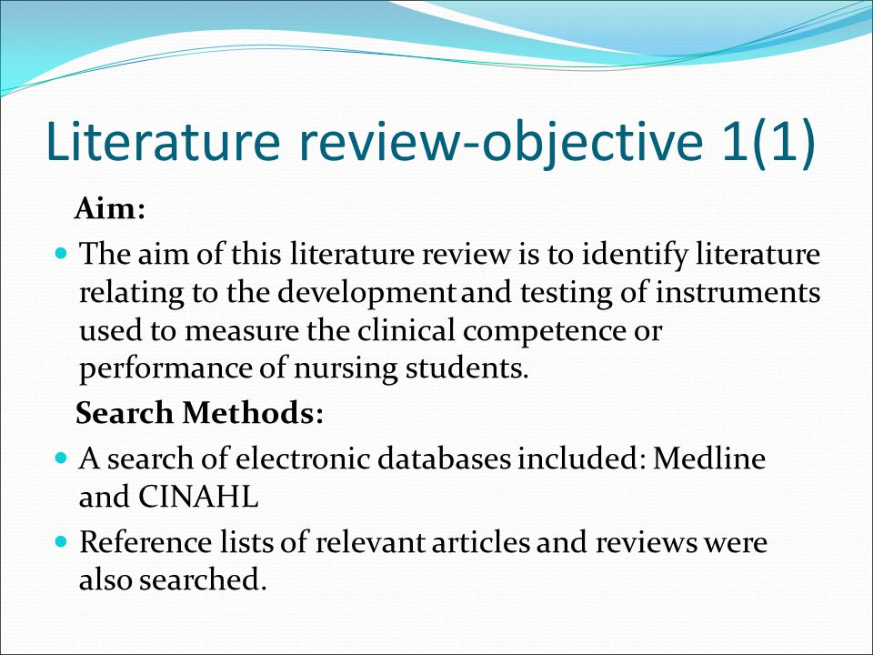 Literature review-objective 1(1)