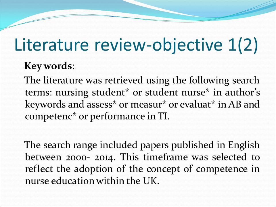 Literature review-objective 1(2)