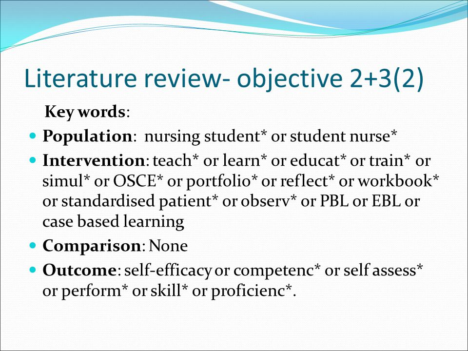 Literature review- objective 2+3(2)