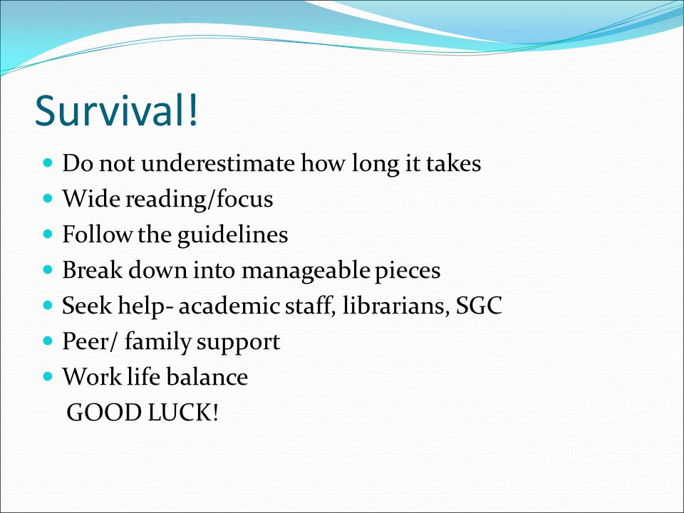 Survival! Do not underestimate how long it takes Wide reading/focus