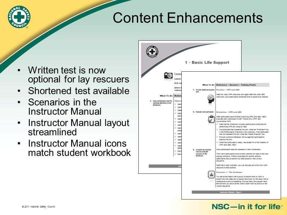 Content Enhancements Written test is now optional for lay rescuers