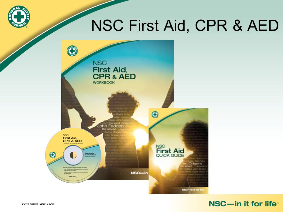 NSC First Aid, CPR & AED