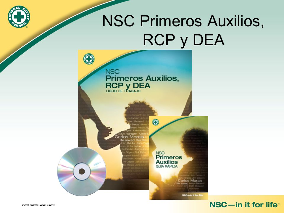 NSC Primeros Auxilios, RCP y DEA