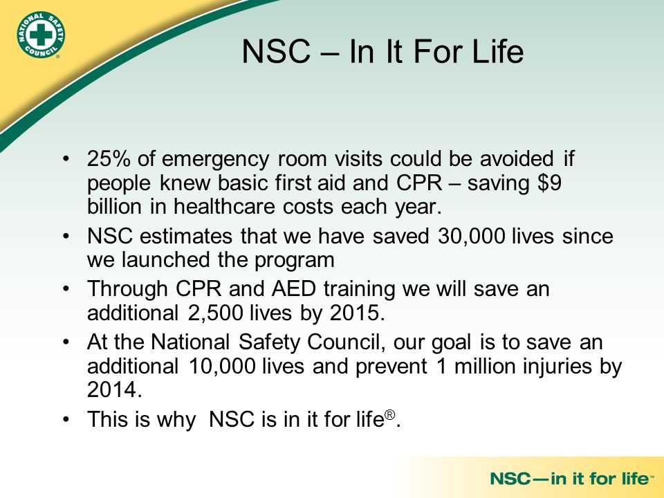 NSC – In It For Life