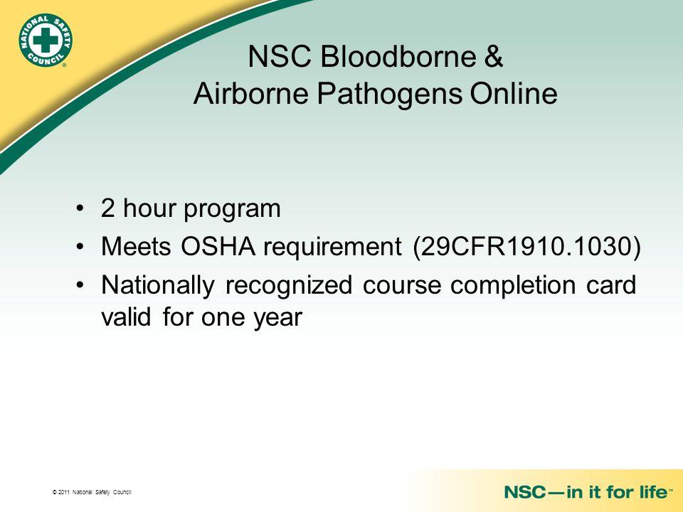 NSC Bloodborne & Airborne Pathogens Online