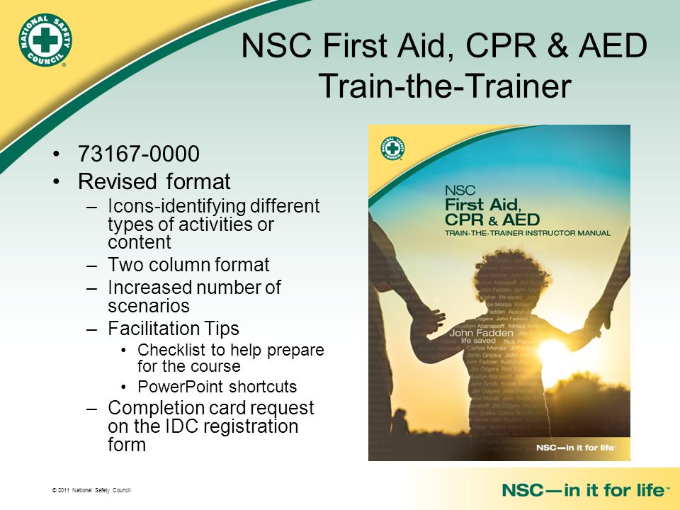 NSC First Aid, CPR & AED Train-the-Trainer