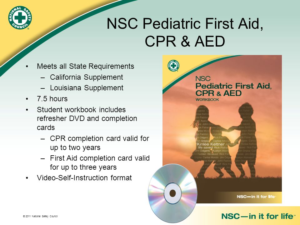 NSC Pediatric First Aid, CPR & AED