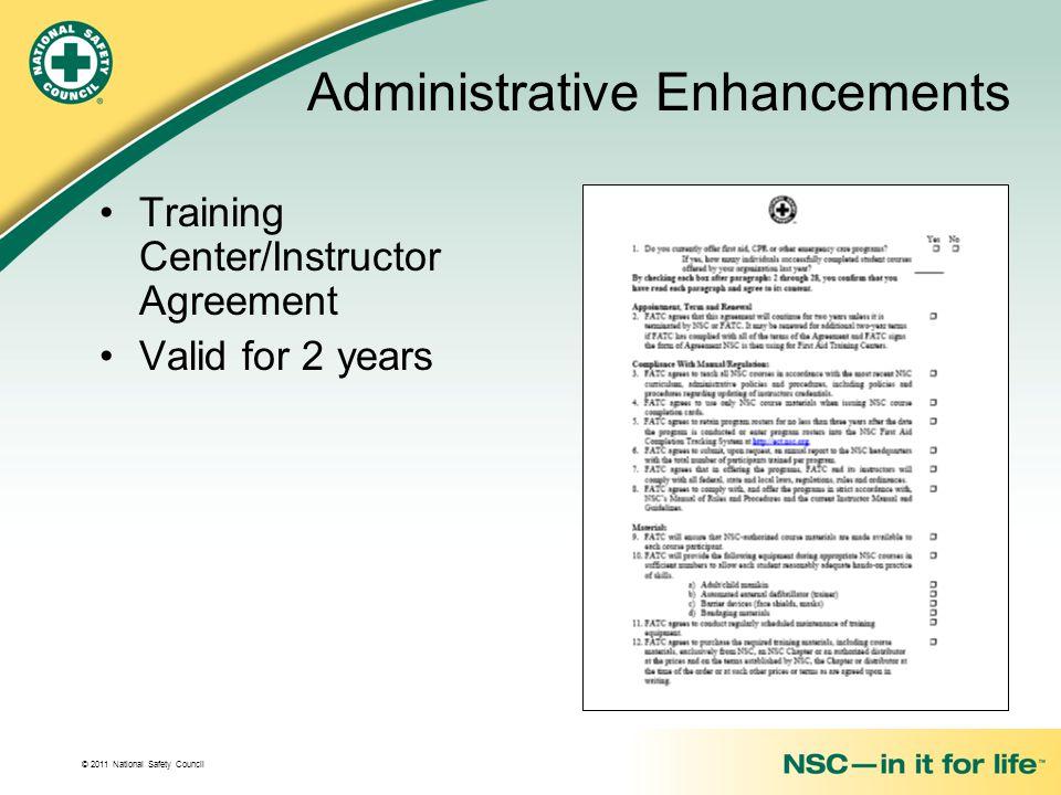 Administrative Enhancements