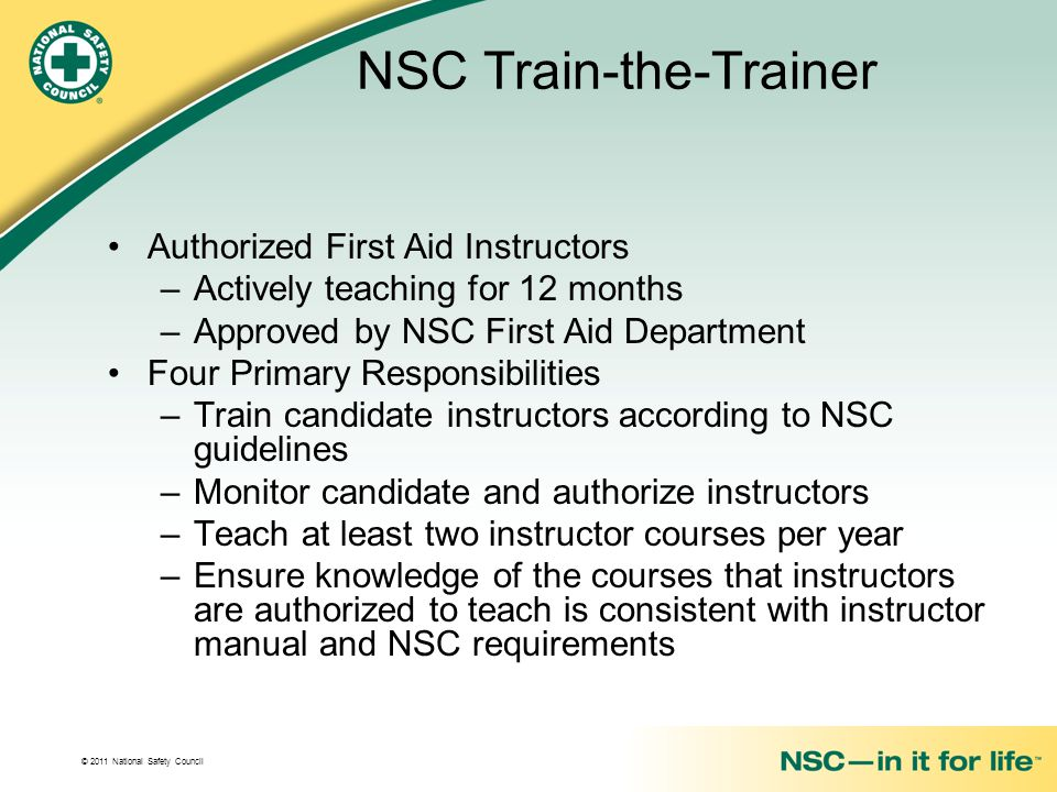 NSC Train-the-Trainer