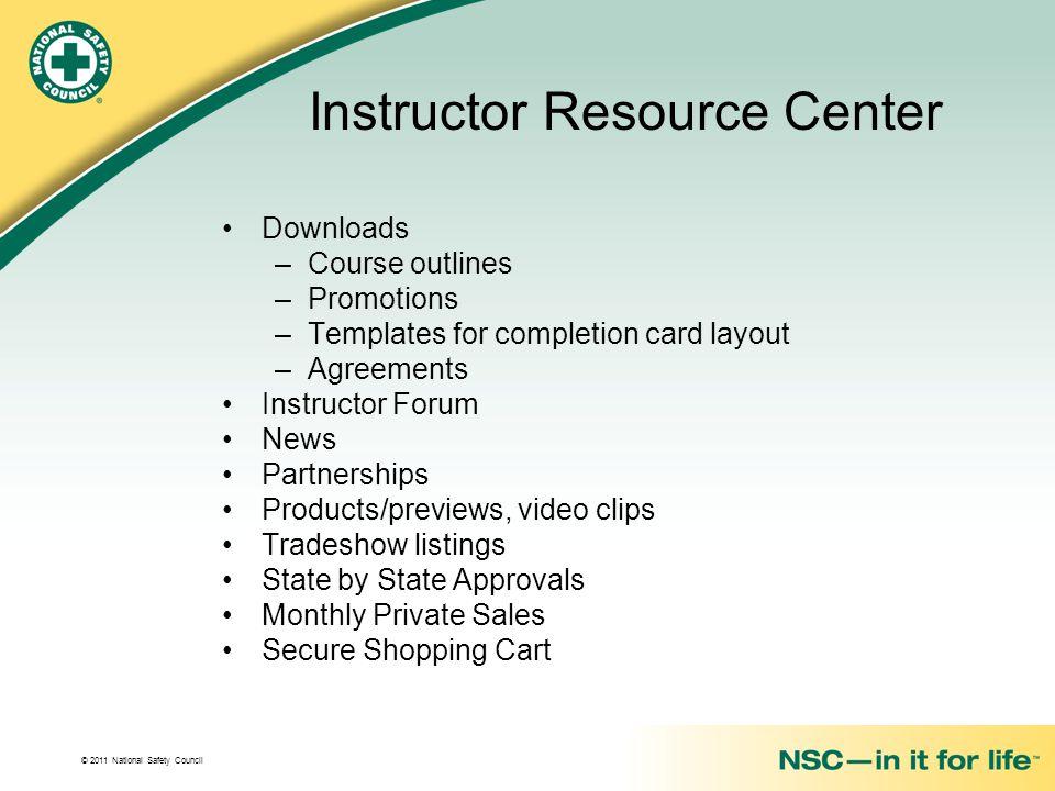 Instructor Resource Center
