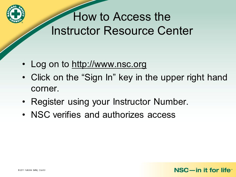 How to Access the Instructor Resource Center