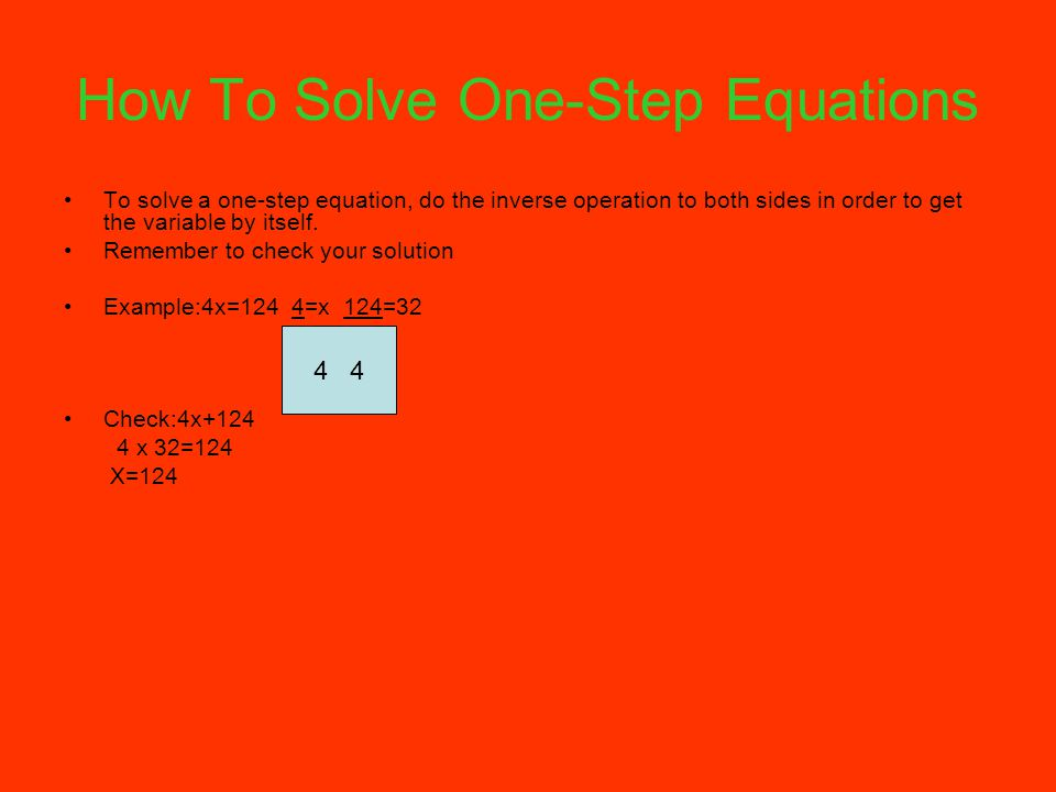 How To Solve One-Step Equations