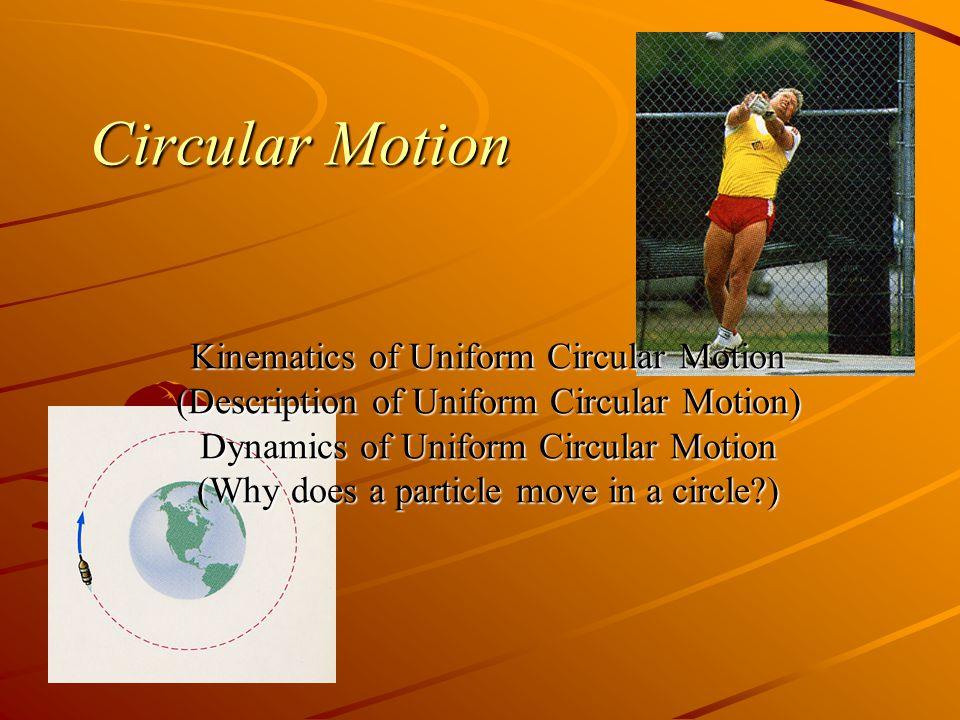 Circular Motion Kinematics of Uniform Circular Motion
